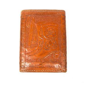 Leather Western Cowgirl Wallet Horses Boots Hats